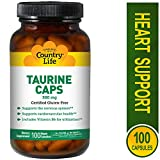 Country Life Vitamins - Taurine 500mg - 100 Capsules