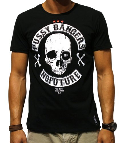 NO FUTURE, Herren T-Shirt, Pussy Bangers, Rocker, Street Couture, NF/GAS-12-025