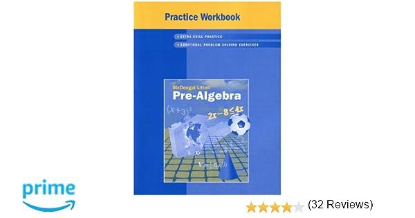 McDougal Littell Pre-Algebra: Practice Workbook, Student Edition ...