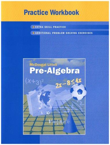 McDougal Littell Pre-Algebra: Practice Workbook, Student Edition