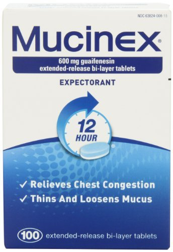 Mucinex 12-Hour Chest Congestion Expectorant Tablets, 600mg 100 Count - Buy Packs and SAVE (Pack of 3) by Mucinex