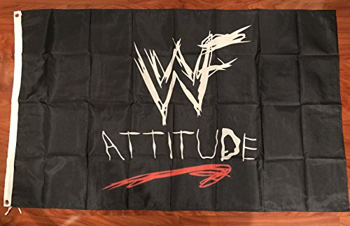 WWF World Wrestling Federation Attitude 3'x5' flag banner- WCW, WWF, WWE -