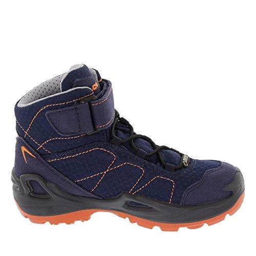 Lowa Ferrox GTX Mid Zapatillas de senderismo niños azul naranja