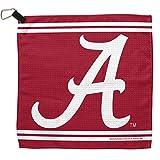 NCAA Alabama Crimson Tide Waffle Golf Towel with Loop and Carabiner, 13 x 13-Inch