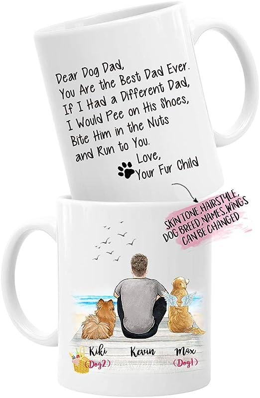 Dog Dad Mug Personalized Dog Dad Gift from Dog Personalized Fathers Day Gift from Dog for Dog Owner Dad Gift from Dog Dog Daddy Mug