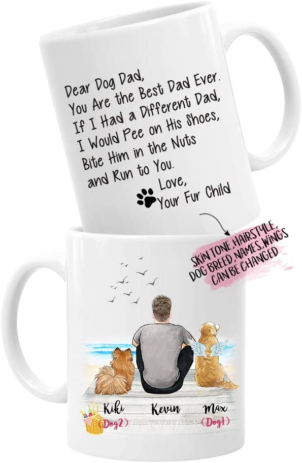 Personalized Portuguese Water Dog Dad Travel Mug Portie Dog Daddy Portuguese Water Dog Portuguese Water Dog Owner Gift PWD Men Gifts