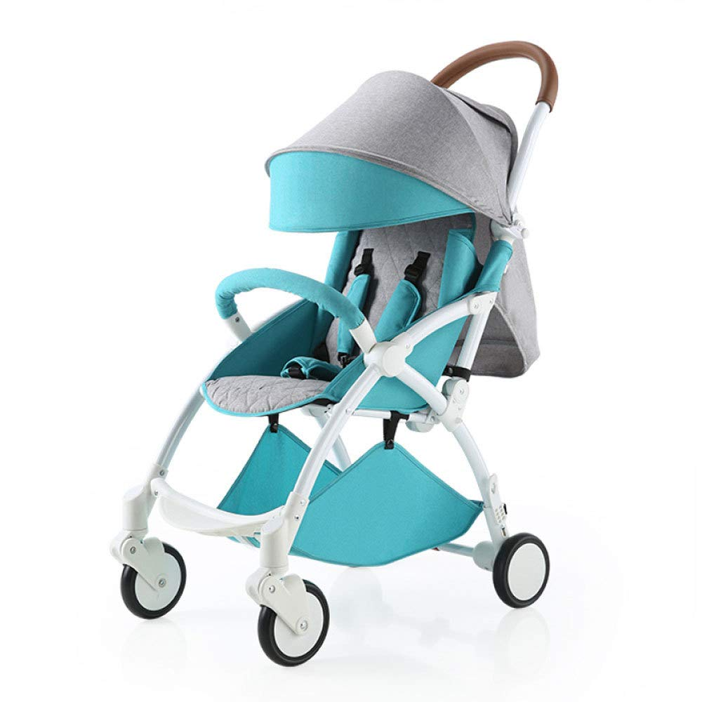 C RAQ Baby strollers Aluminum alloy ultra-lightweight folding can sit can lie high landscape umbrella baby (color   C)