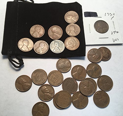 25 Varies Wheat Pennies Cents Steel cent Indian Penny Collection Good to Very ()