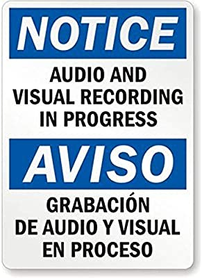 Amazon.com: Aviso: Audio y grabación visual en progreso ...