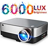 VIVIMAGE C680 Native 1080p Led Projector, 6000 Lux Full HD Home Theater Movie Projector Compatible TV Stick, HDMI, VGA, USB, Laptop, iPhone Android for PowerPoint Presentation