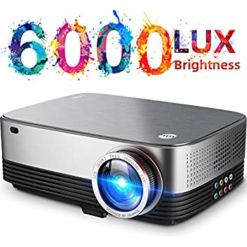 Amazon.com: Bluetooth Android Projector Outdoor 4200 Lumen ...