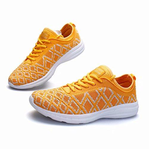 Tomate Rutschfeste Größe Sneaker Damen Walkingschuhe Kleine Atmungsaktives Wanderhalbschuhe gelb Turnschuhe Mesh Silber 36 44 gxwFpUdq