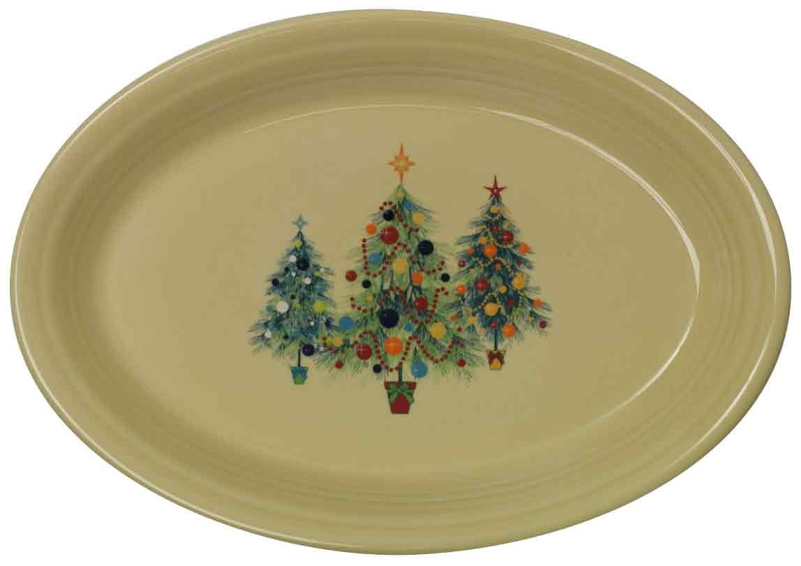Amazon.com | Fiesta 13-5/8-Inch Oval Platter Christmas Tree Fiestaware Platter Platters  sc 1 st  Amazon.com & Amazon.com | Fiesta 13-5/8-Inch Oval Platter Christmas Tree ...