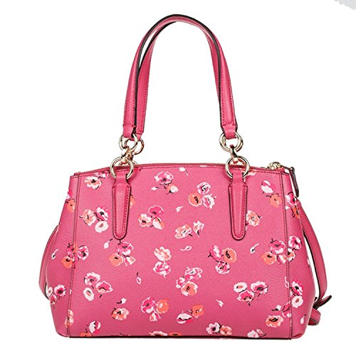 Leather Carryall in Christie Dahlia Crossgrain Wildflower Coach OAwI57qU