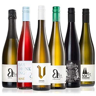 GEILE WEINE Weinpaket VEGAN (6 x 0,75) Probierpaket mit Weißwein, Roséwein und Rotwein von Winzern aus Deutschland