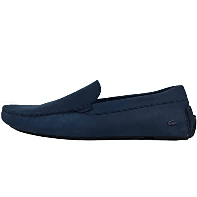 db83e1332 Lacoste Piloter Dark Blue Slip On Loafer Shoes  Amazon.co.uk  Shoes   Bags