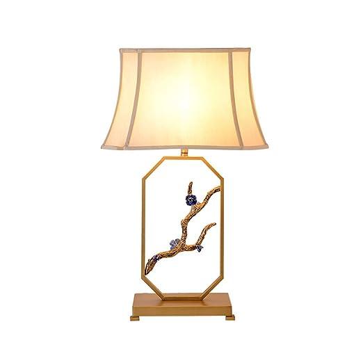 SH-taideng Lámpara de Mesa Estilo Oriental de Hierro Forjado ...