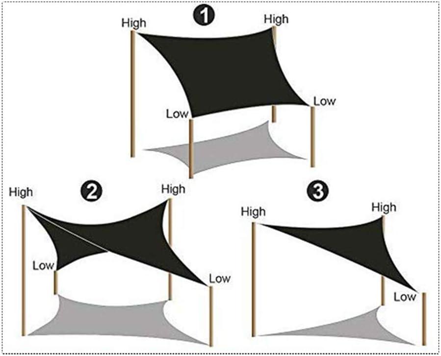 ZSHXF Rechtwinkliges Dreieck Sonnensegel Sonnenschutz Wetterschutz Wetterbest/ändig,Garten Terrasse Camping,Oxford Fabric Gewebe UV-Schutz Platz F/üR Camping Windschutz