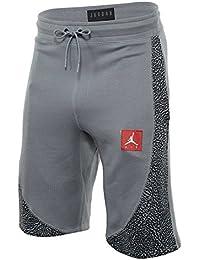 NIKE Men's Jordan Retro 3 Wings Lite Fleece Shorts (Stealth Grey/Black, Medium)