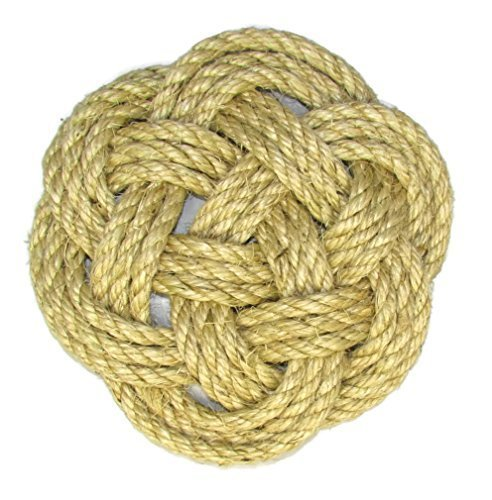 (Nautical Jute Rope Knot Trivet by Latitude)
