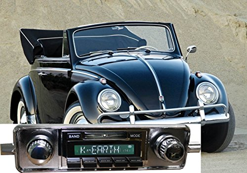 Custom Autosound Stereo Compatible with 1958-1967 Volkswagen Bug Beetle, USA-630 II High Power 300 watt AM FM Car Stereo Radio with Auxiliary Input