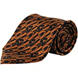 NCAA Texas Longhorns Nexus Silk Tie - Burnt Orange/Black