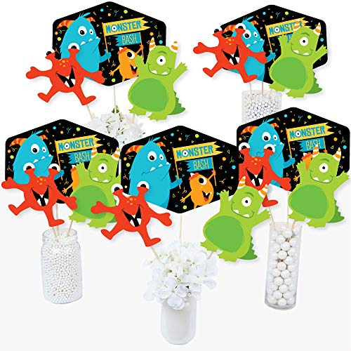 Monster Bash - Little Monster Birthday Party or Baby Shower Party Centerpiece Sticks - Table Toppers - Set of 15]()