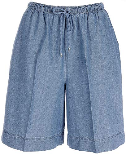 Waist Bealls Shorts Elastic - Coral Bay Petite The Everyday Drawstring Denim Shorts Medium Petite Light wash