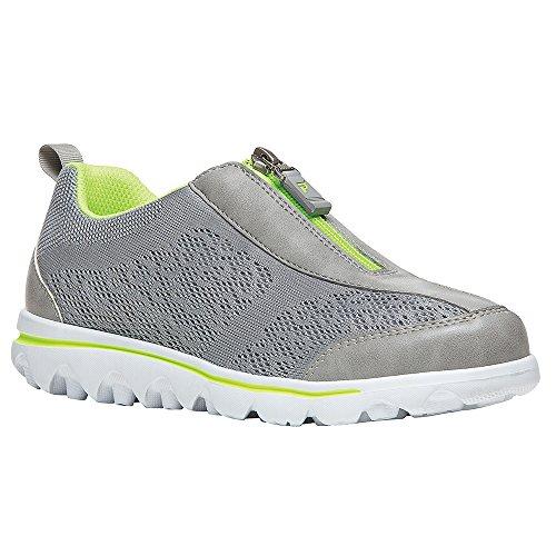 Propet Damen TravelActiv Zip Walking Schuh Silber, Limette