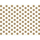 Gold & White Polka Dots Tissue Paper 20 X 30 - 24 Sheets