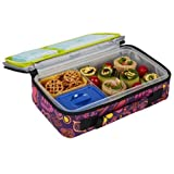 Fit & Fresh Kids' Bento Box Lunch Kit with Reusable BPA-Free Removable Plastic Containers, Insulated Lunch Bag and Ice Packs, Kids, Men, Ladies by Fit & Fresh