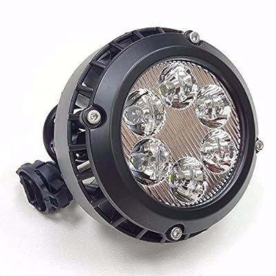 LEDIN For 2007-2014 Yukon Avalanche Tahoe Suburban LED Clear Lens Fog Driving Lights Lamps Pair: Automotive
