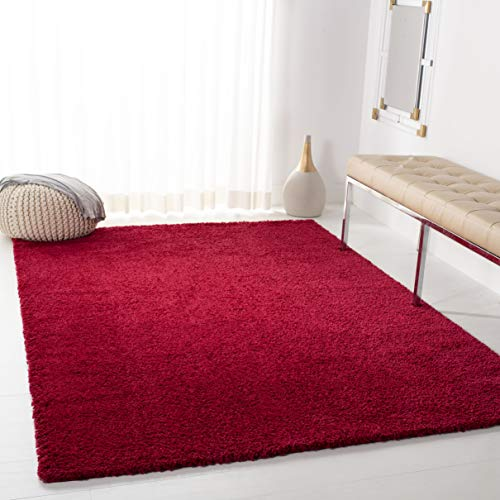 Square Red Shag Rug - Safavieh AUG900Q-7SQ August Shag Collection AUG900Q Red (6'7