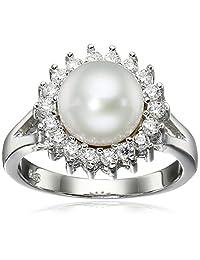 Bella Pearl Halo Pearl Ring