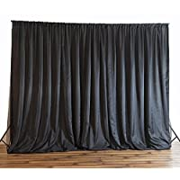Efavormart 20ft x 10ft Chic-Inspired Party Wedding Backdrop,Photography Background - Black