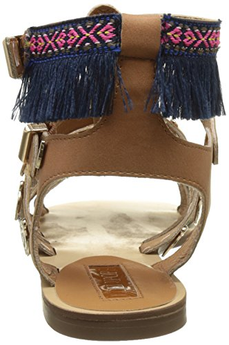 LOLLIPOPS Women's Zoli Flat Open-Toe Sandals Brown (Camel Camel) 0spHn