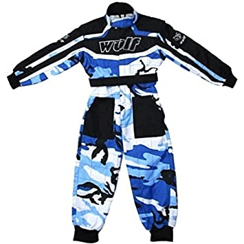 Red XL Wulfsport Children Kids CAMO MX Motocross Motorbike Race Suit Clothing Quad Bike 11-12Yrs