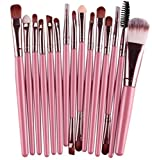 15 Piece Makeup Brushes Set Eye Shadow Eyeliner Cosmetic Make Up Tool Professional Natural Beauty Palette Eyeshadow Stylish Popular Eyes Faced Colorful Rainbow Hair Highlights Glitter Kit, Type-16
