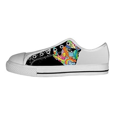 c1e7637dd35f3 DONGMEN Custom Elvis Presley Flat Canvas Shoes Sneakers For Women ...