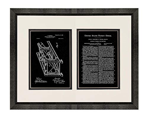 - Girder or Beam for Bridges Patent Art Black Matte Print in a Beveled Black Wood Frame with a Double Mat (18