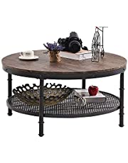 GreenForest Round Coffee Table for Living Room