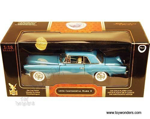 20078bu Yatming - Lincoln Continental Mark Ii Hard Top w/ Coin (1956, 1:18, Blue) 20078 Diecast Car Model Auto Vehicle Automobile Metal Iron Toy