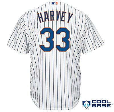 Majestic Athletic New York Mets Matt Harvey 2015 Cool Base Home Jersey Small
