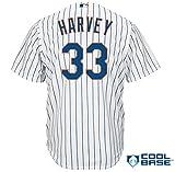 Majestic Athletic New York Mets Matt Harvey 2015 Cool Base Home Jersey Small