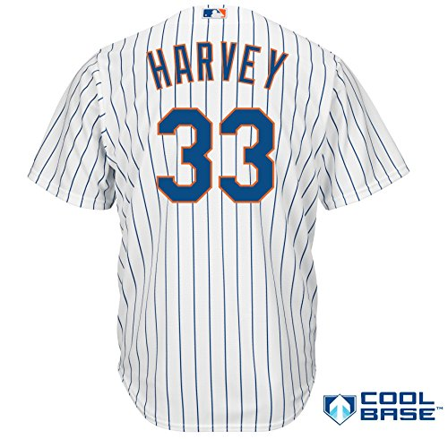 Matt Harvey New York Mets #33 MLB Youth Cool Base Home Jersey (Youth Small 8)