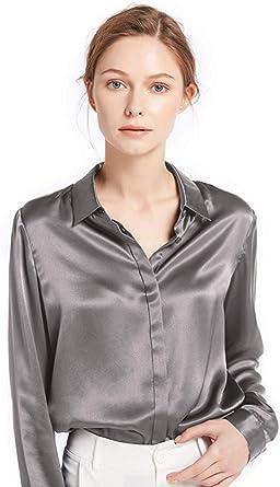 LilySilk Camisa Mujer de 100% Seda de 22Momme con Botones Estilo Clásico: Amazon.es: Ropa y accesorios