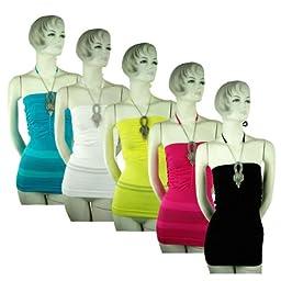 Bulk Buys Ladies Jeweled Seamless Fashion Tops - Case of 12