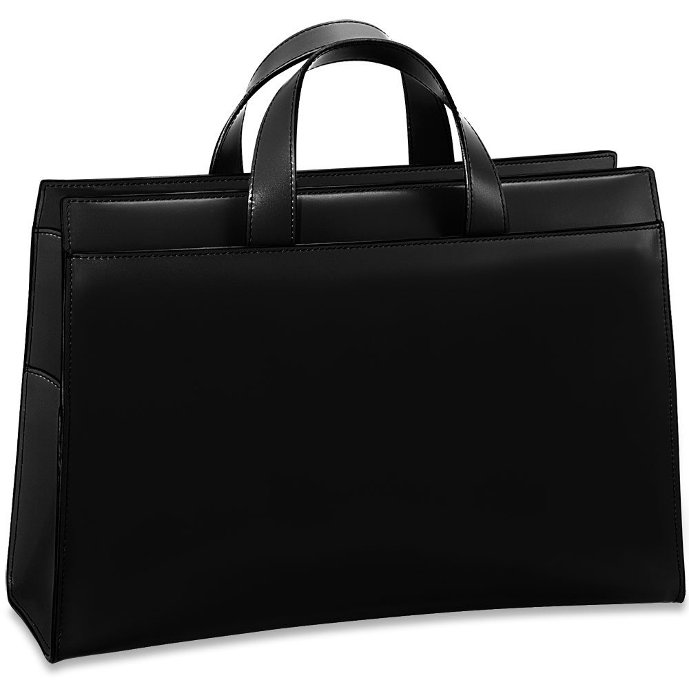 Jack Georges Womens [Personalized Initials Embossing] Milano Business Tote in Black by Jack Georges (Image #1)