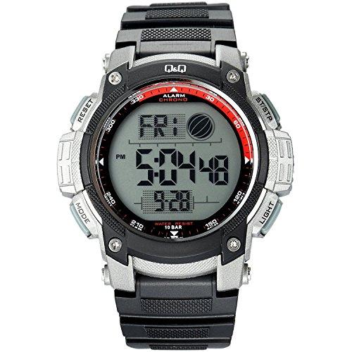 Q amp;Q Digital Grey Dial Men #39;s Watch   M119J003Y