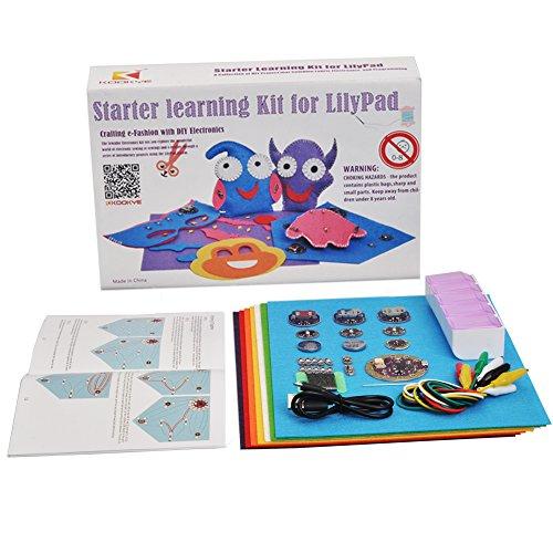 KOOKYE LilyPad Kit Starter Learning Sewable Electronics Kit w/ LilyPad Arduino USB Board for Arduino (LilyPad Starter Kit)